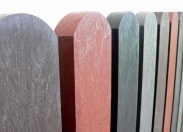 Plastic fence boards